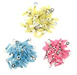 XLX 150Pcs (Red Yellow Blue) Nylon Heat Shrink Ring Insulated Terminals Electrical Wire Crimp Connector