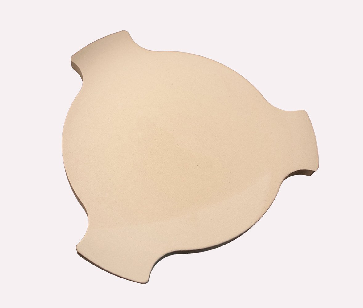 BBQ funland Ceramic Pizza Stone, Heat Deflector for Char-Griller AKORN Kamado and other Ceramic oven grills by BBQ funland