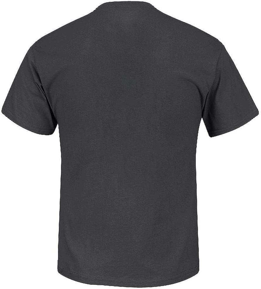 Majestic Mens Los Angeles Rams T-Shirt Cotton//Polyester Blend 20840570 Dark Grey Large