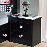 Powell Kickflip Black Wood 2-drawer Nightstand