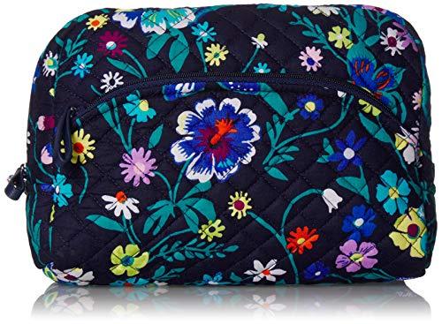 Vera Bradley Women's Signature Cotton Large Cosmetic Makeup Bag, Moonlight Garden, One Size