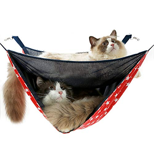 NACOCO 2 Level Comfortable Cat Hammock, Breathable Hanging Bed/nest for Kitten/Adult Cats, Double...