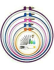 Wartoon Cerchi da Ricamo, 5 Pezzi Cerchio a Punto Croce Cerchio da Ricamo Set da 12,5 cm a 28 cm