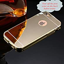 For iPhone 5 5s SE Case, FLOVEME Ultra Thin Mirror Electroplate Back Cover Case for Apple iPhone 5 5s SE - Gold