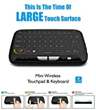 EVANPO E3 Wireless Keyboard and Touchpad Mouse Combo, 2.4GHz Mini Keyboard with Full Panel Touchpad Mouse Remote for Android TV Box, HTPC, IPTV, PC, Laptop, PS3, Xbox 360, Smart TV and More