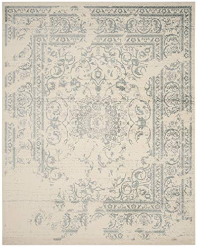 Safavieh Adirondack Collection ADR101S Ivory and Slate Oriental Vintage Distressed Area Rug (8' x 10')