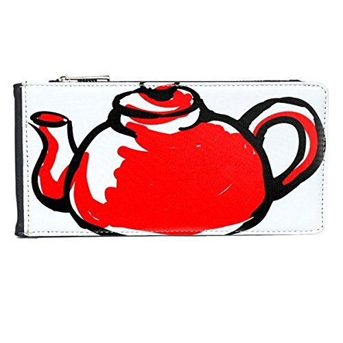 China Chinese Teapot Traditional Culture Illustration Pattern Multi-Card Faux Leather Rectangle Wallet Card Purse Gift]()