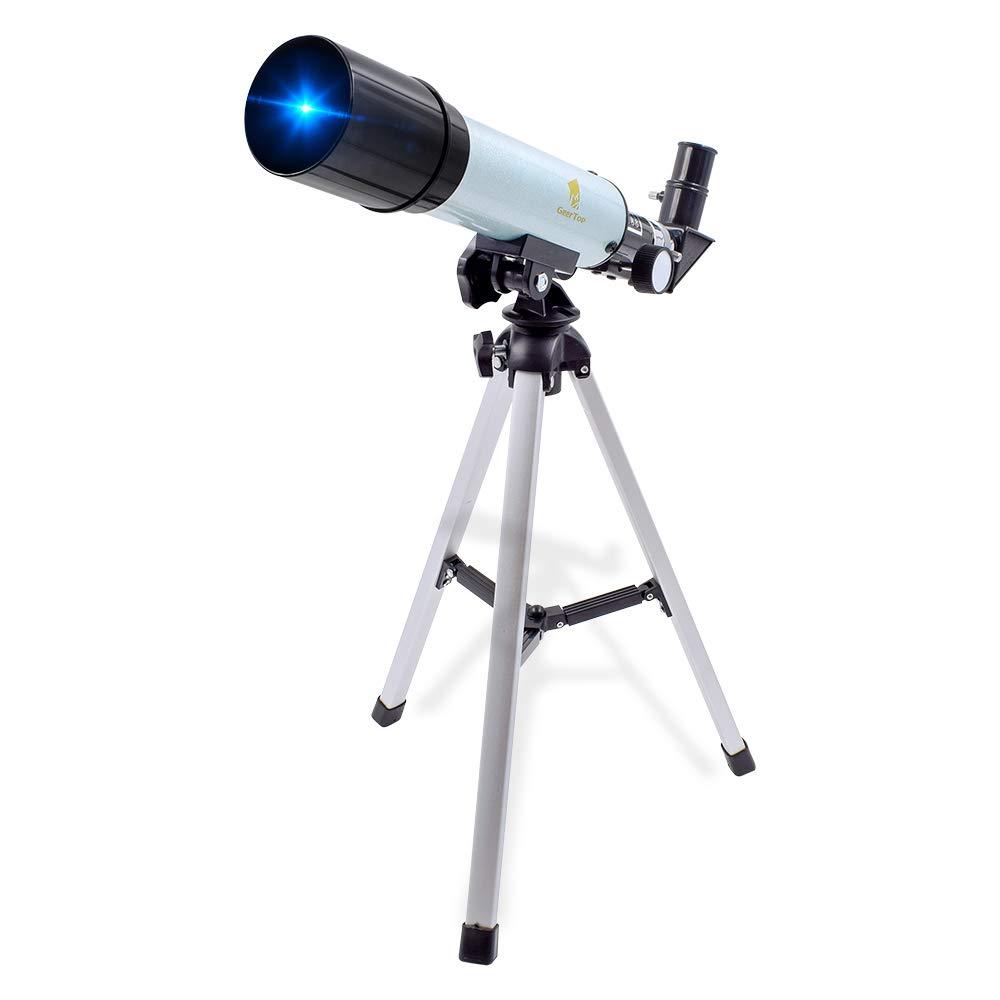 GEERTOP 90X Portable Astronomical Telescope Tabletop Educational Refractor 360X50mm for Kids Sky Star Gazing Birds Watching