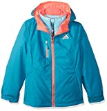 ZeroXposur Girls' Big Maddie 3in1 System Jacket, Peacock, Medium
