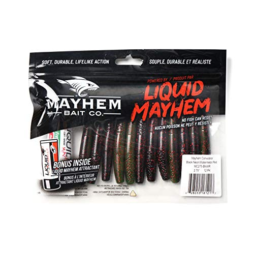 "Mayhem Convulsion 4"" Soft Plastic Fishing Lure 3 Pack. Provides Incredible Action Triggering Aggressive Strikes."