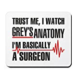 CafePress Greys Anatomy Trust Me Non-Slip Rubber Mousepad, Gaming Mouse Pad
