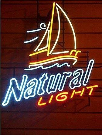 Beer Bar Pub Man Cave Business Glass Lamp Light DC301 Queen Sense 32x24 Natural Light Sailboat Neon Sign VariousSizes