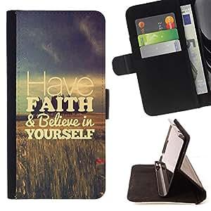 For HTC DESIRE 816 Have Faith Fields Vignette Motivational Style PU Leather Case Wallet Flip Stand Flap Closure Cover