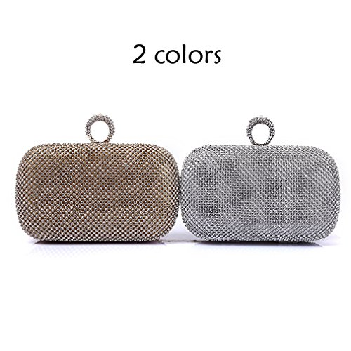 clutch bag silver wedding White wallet Womens HopeEye trends Alloy 2 Fashion Evening Zinc waistbag Ufqxqpw