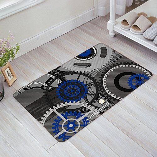 Andrew Brown Technological Gears Robotic Future Doormat Welcome Mat Entrance Mat Indoor/Outdoor Door Mats Floor Mat Bath Mat ()
