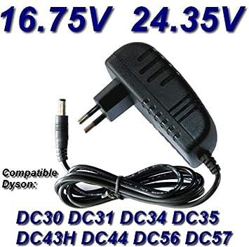 Top Cargador * Adaptador alimentación Cargador DC 16.75 V/DC 24.35 V para aspiradora Dyson Vacuum Cleaner Dyson DC 16.75 V/DC 24.35 V DC30, DC31, ...