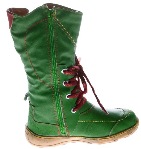 Atm verde donna Stivali per in Tma nero multicolore Foderato 1 cuciture giallo invernali scarpe pelle twtrxqgaPd
