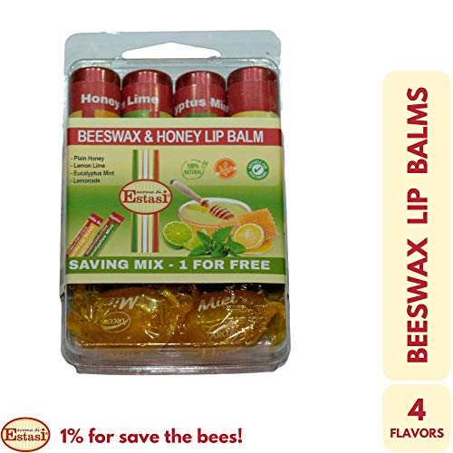 Lip Balm Beeswax and Honey Saving Mix Care Pack