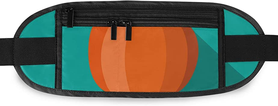 With Pumpkins Running Lumbar Pack For Travel Outdoor Sports Walking Travel Waist Pack,travel Pocket With Adjustable Belt