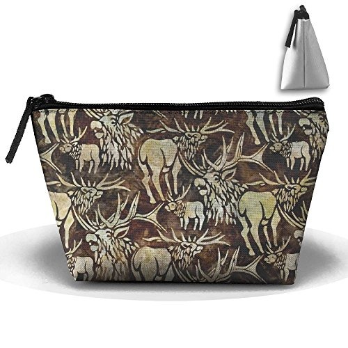 Batik Earth (Batiks Wildlife Sanctuary Moose Earth Zipper Closure Pouch Travel Multi-functional Cosmetic Bags)