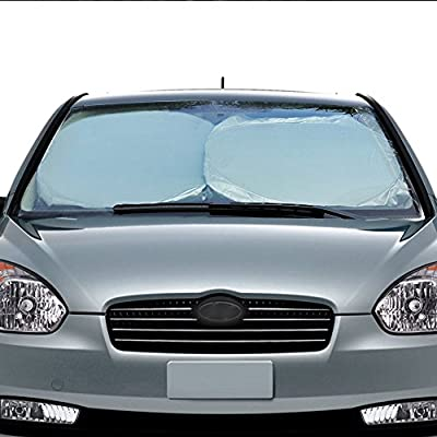 Auto Car Sun Shade Windshield Cover?Three Sizes?for Car Truck SUV Minivan, Keeping You Cooler With A Pristine Interior including Non-slip Sticky Dash Mat