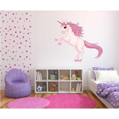 Charmant 60 Second Makeover Limited Full Colour Unicorn Girls Bedroom Nursery Wall  Sticker Decal Kids Décor
