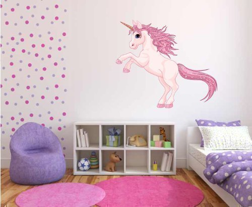 60 Second Makeover Limited Full Colour Unicorn Girls Bedroom Nursery Wall Sticker Decal Kids Décor
