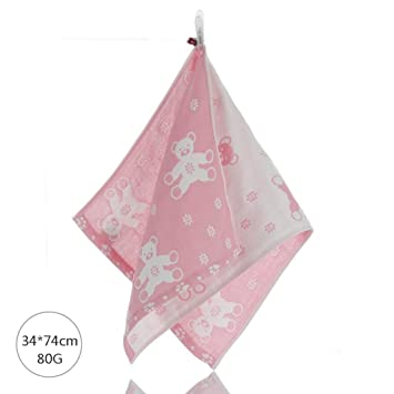 ZLR Toalla de algodón pura de cuatro capas con toalla de gasa de dibujos animados (Toallas * 3) (Color : H) : Amazon.es: Hogar