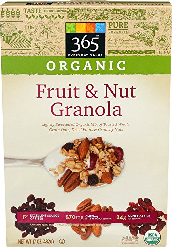 365 Everyday Value, Organic Fruit & Nut Granola, 17 Ounce