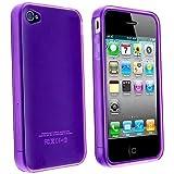 LE Purple TPU Flexible Case For Apple Iphone 4 4G