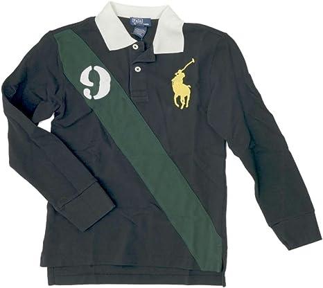 Ralph Lauren Niños Polo Camiseta de manga larga Big Pony verde Joven 98: Amazon.es: Bebé