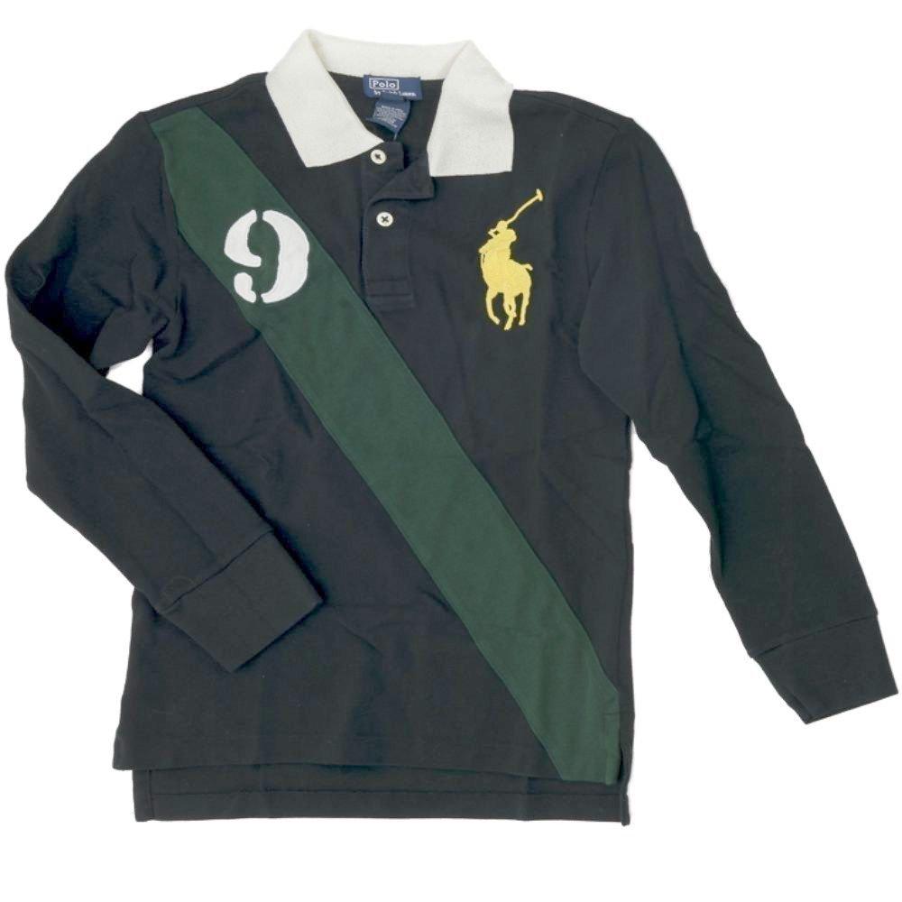 Ralph Lauren Niños Polo Camiseta de manga larga Big Pony verde ...