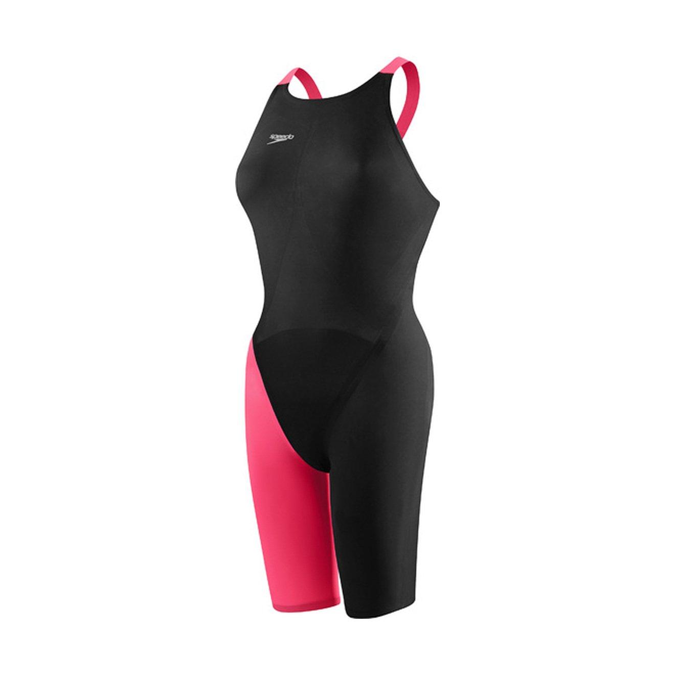 Speedo 7190722レディースLZRエリート2 Closed Back Swimsuit B016R9CNIO Black/Hot Coral 26 L 26 L|Black/Hot Coral