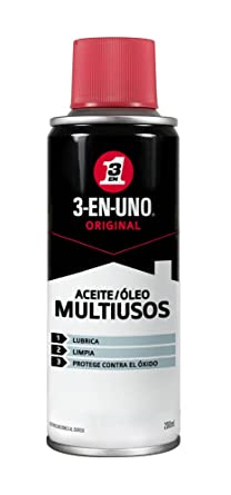Oferta amazon: 3 EN UNO Original 34135 - Spray Multiusos 200 ml- Lubrica, Limpia y Protege Contra el Óxido