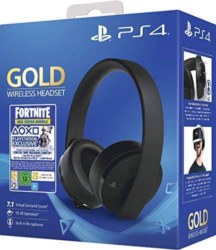 Gold Wireless Headset Fortniteneo Versa Bundle (PS4)