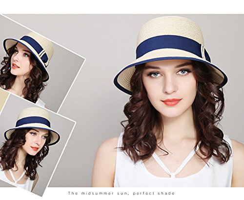 Straw hat Flash- Cappello da Sole Femminile Cappellino di Protezione Solare Cappello  da Pescatore Cappello di Paglia Cappello da Spiaggia ... afeafa916856