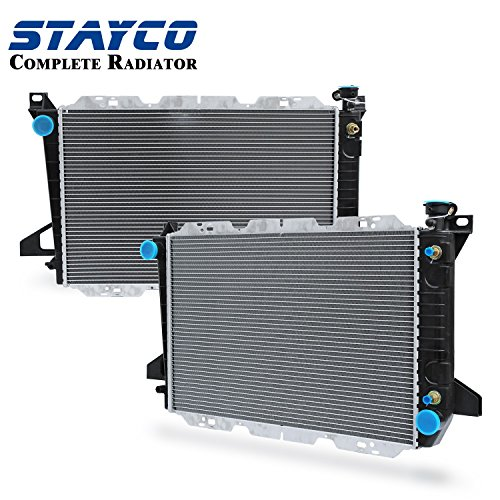 STAYCO Radiator Replacement for F-150 XL XLT Lariat Special Eddie Bauer Custom Base L6 4.9L Ford Bronco XL XLT Nite Eddie Bauer Custom L6