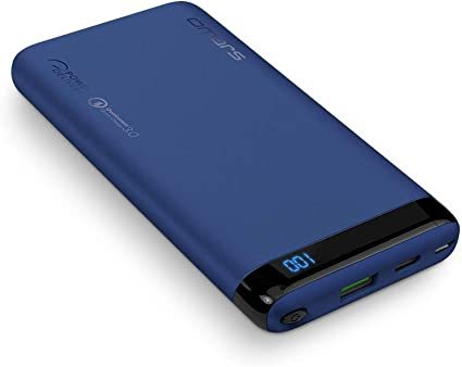Omars Power Bank Carica Veloce 10000mAh Caricabatterie