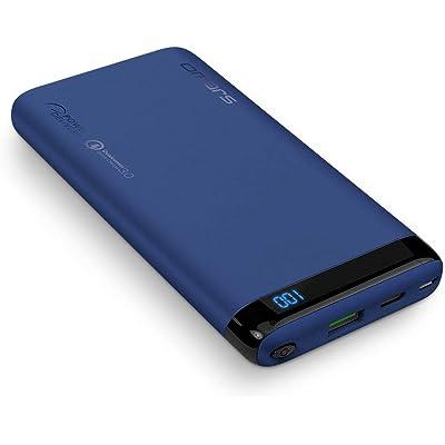 Omars PowerBank Carga Rápida PD & QC3.0 18W - 10000 mAh Batería Externa con USB-C & USB-A, Cargador Portátil para Moviles Android & iOS, Tabletas, Azul