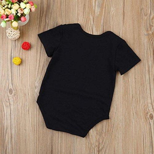 Omiky® Säuglings-Baby-Jungen-Mädchen-Halloween-Kürbis-Kurzschluss-Hülsen-Spielanzug-Overall-Kleidung Schwarz