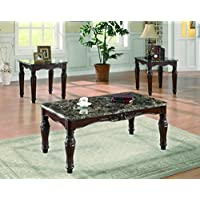 Coaster Home Furnishings Traditional Living Room 3 Piece Set, Brown and Cherry