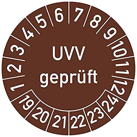 in verschiedenen Farben und Gr/ö/ßen N/ächster DGUV Vorschrift 3 Pr/üftermin Pr/üfplakette 20 mm /Ø, Blau 500 St/ück Pr/üfetikett Pr/üfsiegel Plakette N/ächste Pr/üfung DGUV V3