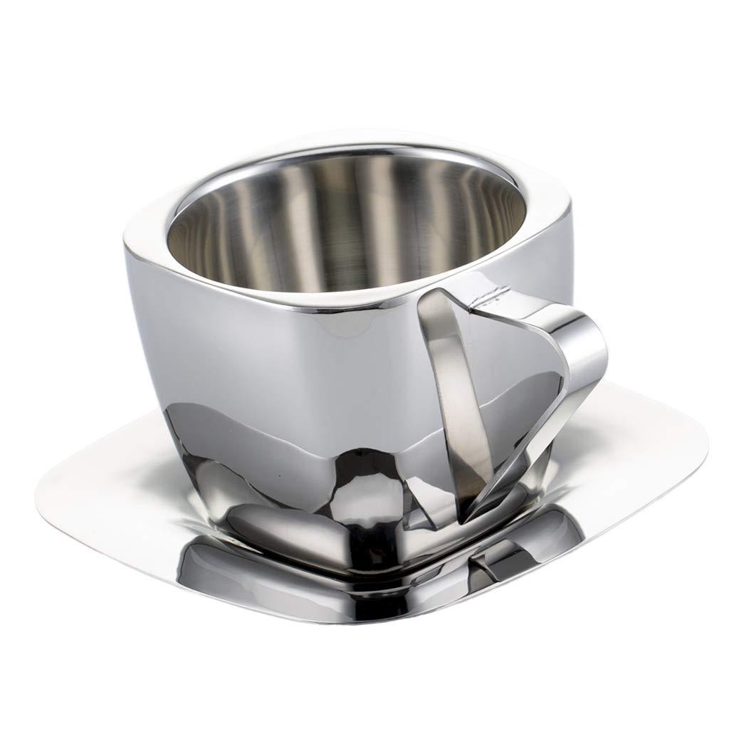 Fityle Double Wall Thermal Stainless Steel Coffee Mug Set 90ml 150ml 240ml - 90ml