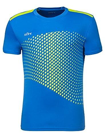 Sport Shirt for Mens / Dry Fit Athletic Tee Shirt / ZITY Running T Shirt Blue XXXL - Plus Size Print Jersey