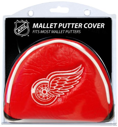 Team Golf NHL Detroit Red Wings Golf Club Mallet Putter Headcover, Fits Most Mallet Putters, Scotty Cameron, Daddy Long Legs, Taylormade, Odyssey, Titleist, Ping, Callaway