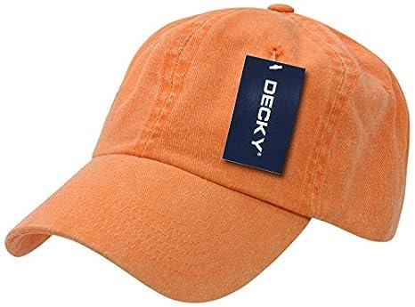 Decky Pigment Dyed Polo - Gorra para Hombre, Color Naranja, Talla ...