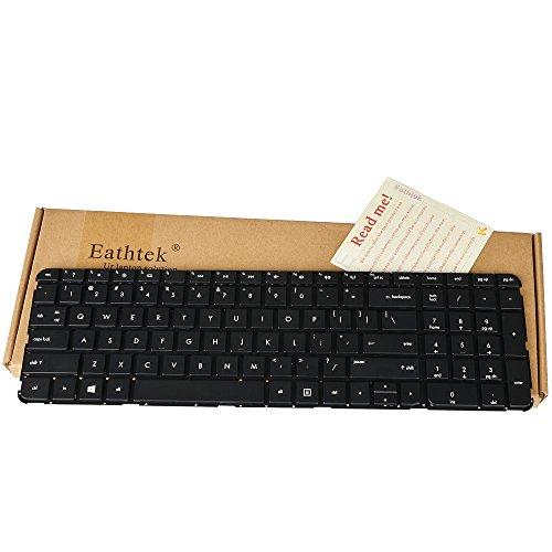 Eathtek Replacement Keyboard without Backlit and Frame for HP Pavilion DV7-7000 DV7-7100 dv7t-7000 series Black US Layout, Compatible with part number NSK-CJ0UW 1D 670323-B31 9Z.N7XUW.01D