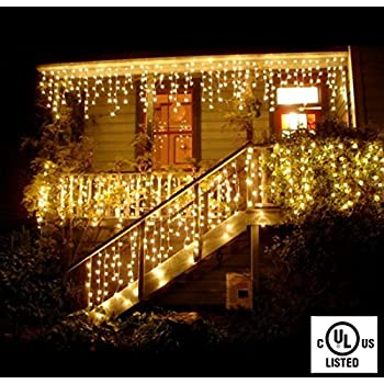 Exceptional Icicle Lights Curtain String Lights DOULINE Fairy String Lights ,96LED,11.5ft/