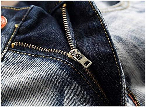 In Dritti Cotone Moda Blaueswhite Classici Jeans Cowboy Autoscatto Ssig Uomo Ragazzo Da Ne Alla EqCzTxwnaz