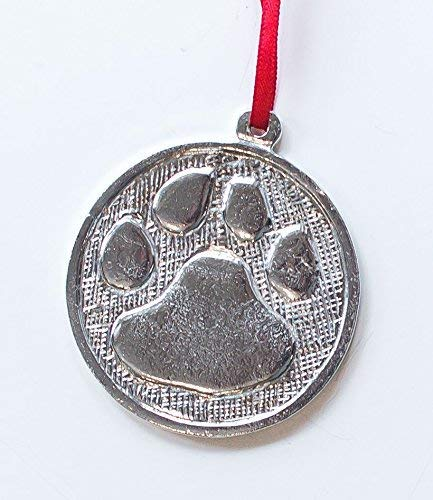 872 Paw Cougar Tiger Wild Cat Dog Ornament Key Chain Pewter
